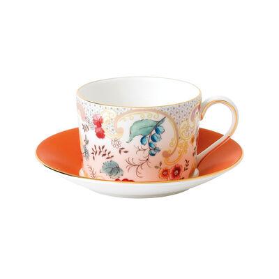 "Wedgwood ""Wonderlust"" Rococo Flowers 2-pc. Teacup and Saucer Set, , default"
