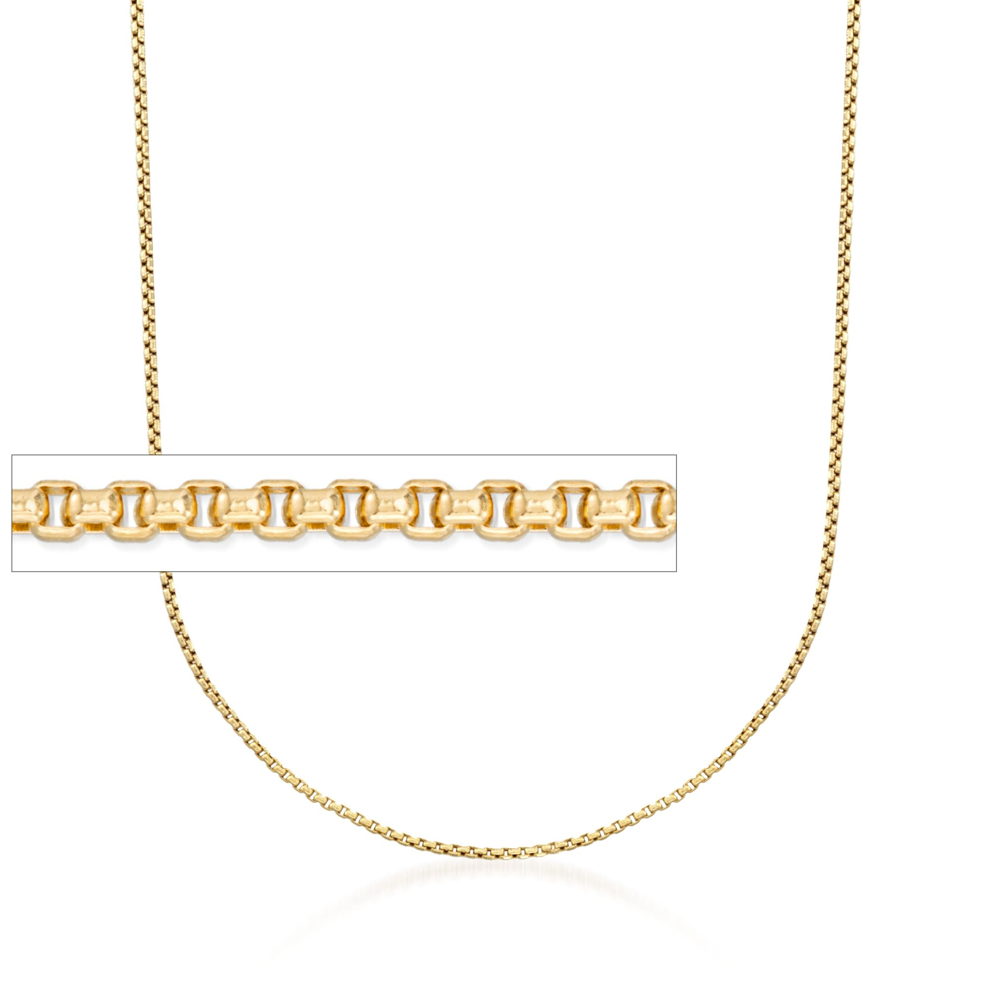 1pc 17.7/'/' ready to wear 18k Gold Filled Square Box Chain Necklace Layering Dainty Box Chain For Jewelry Making with Pendant Charm CH-649