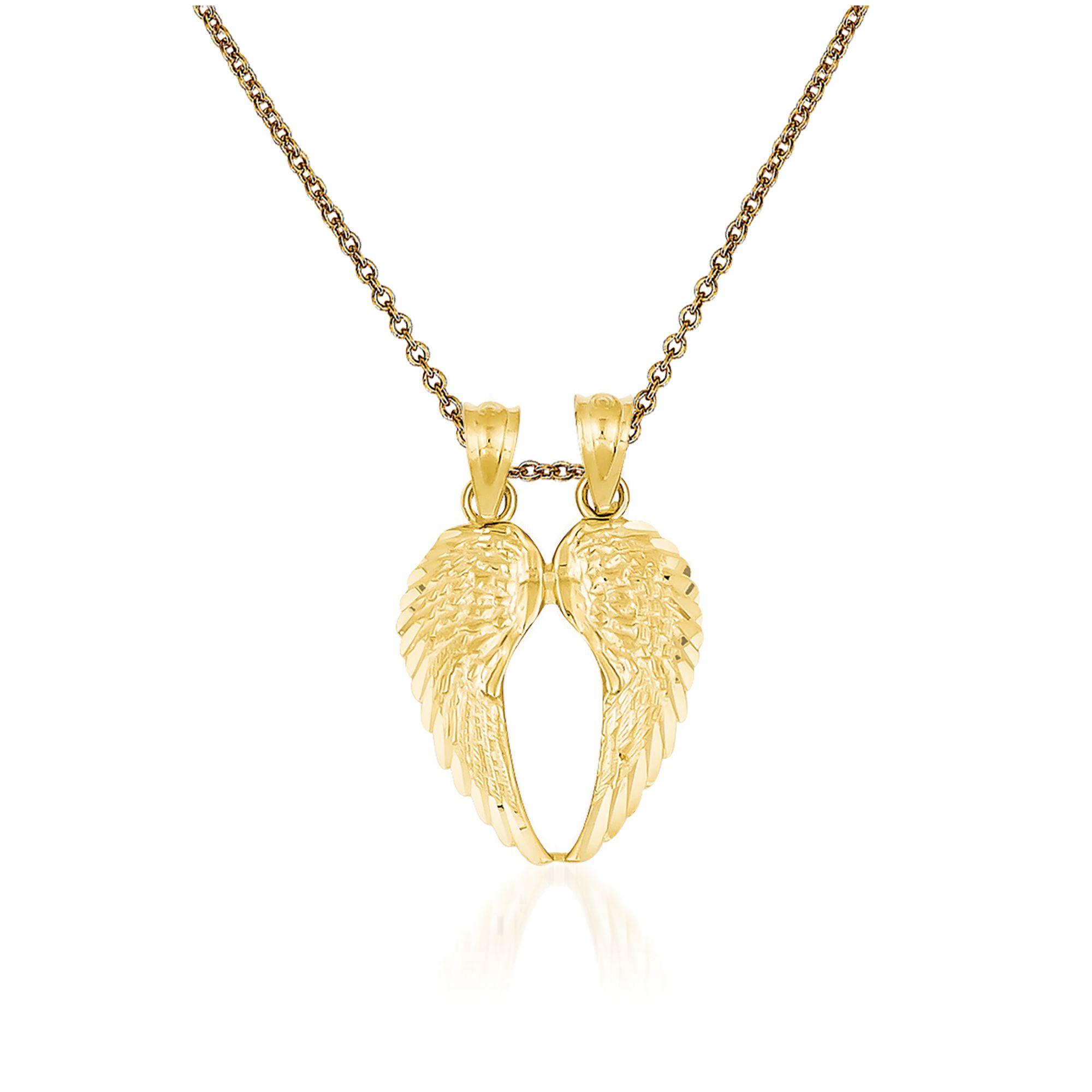 Wing Brass Pendant Matte Original Rhodium Plated 10 Pieces  C3170R-010