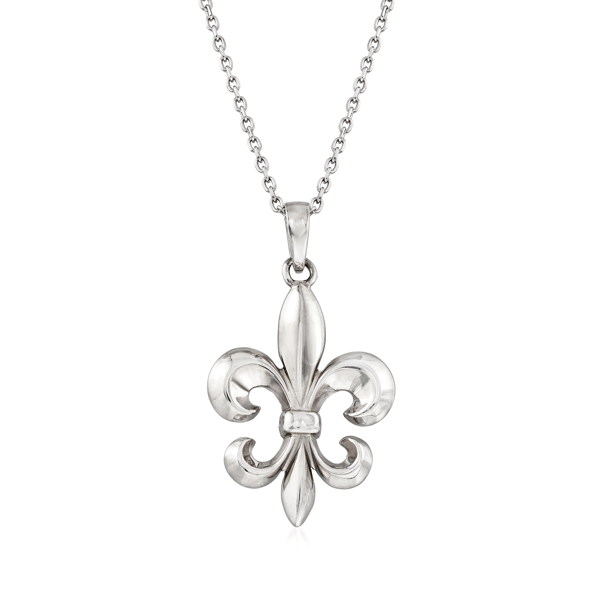 Beautiful Set Available In All Metals Fleur de Lis Necklace and Earring Set